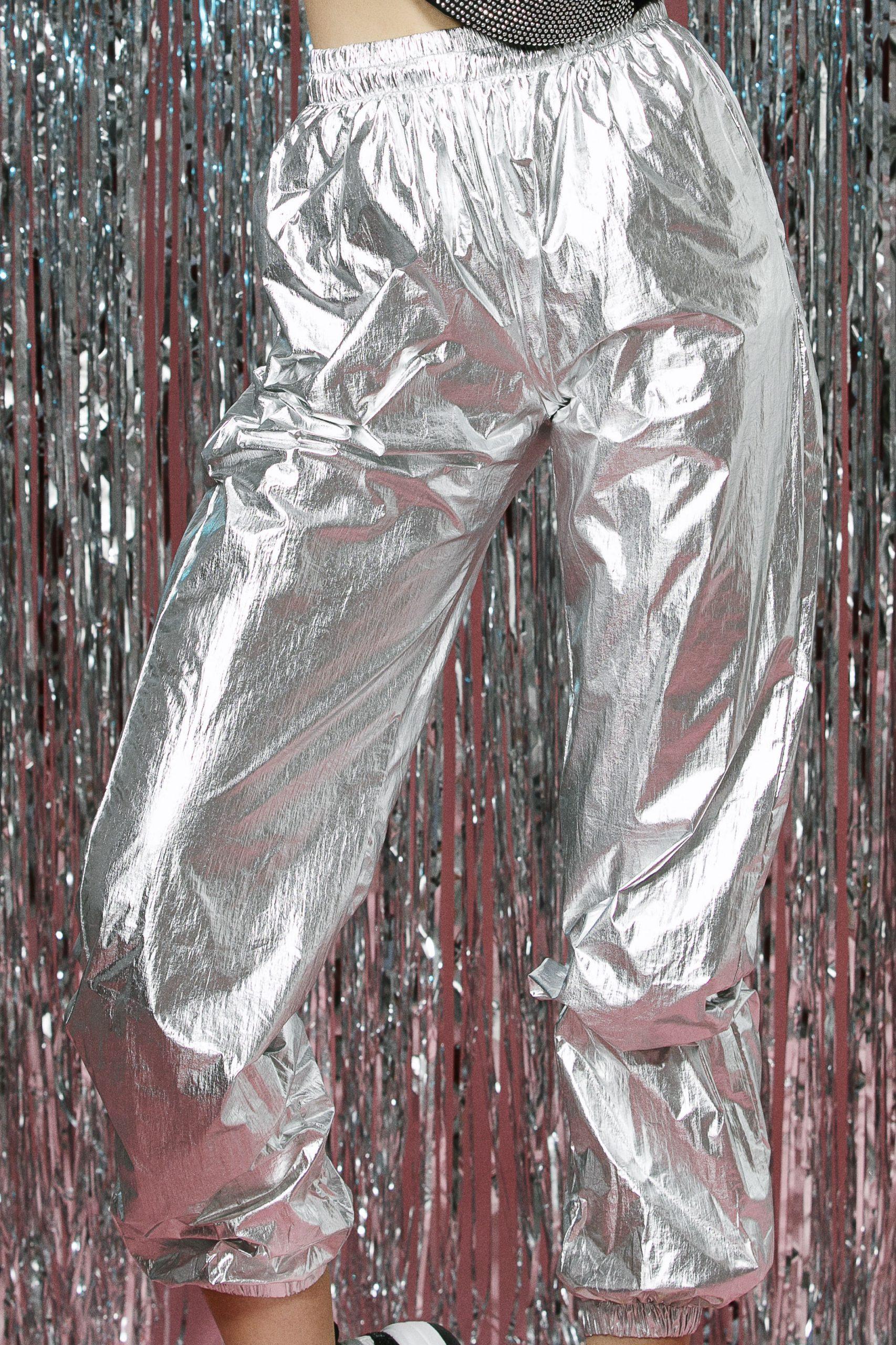 Pantaloni lungi silver 2